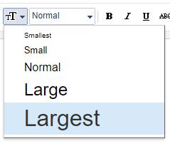 Besarnya font di blogger